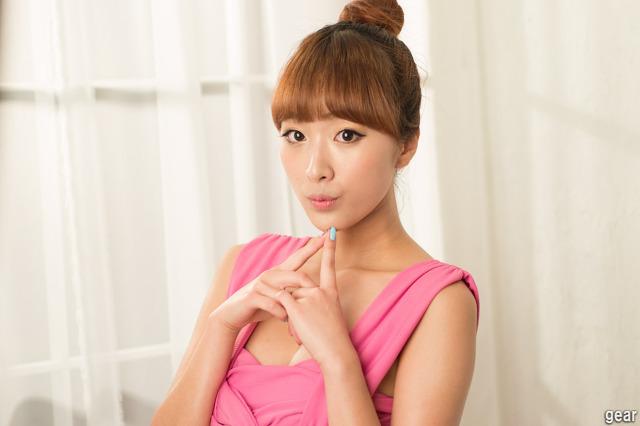 6 Minah in Pink Mini Dress-very cute asian girl-girlcute4u.blogspot.com