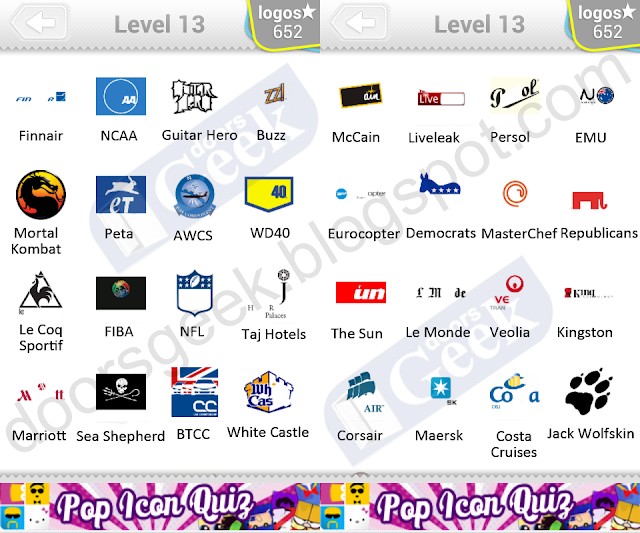 logo quiz level 13 answers by bubble quiz games