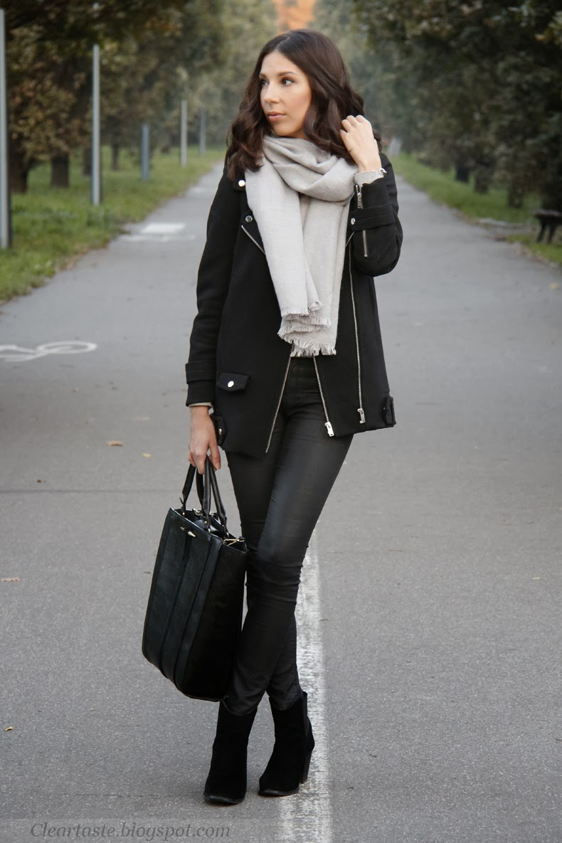 black biker jacket zara