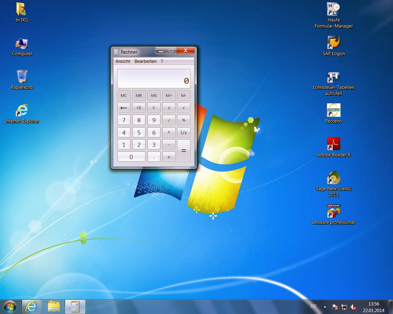 windows 7 desktop symbole weg