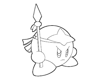 #17 Kirby Coloring Page