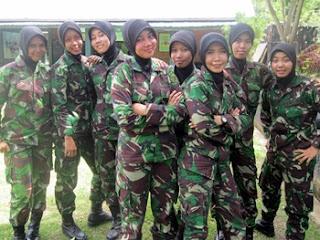 KOWAD (Korps Wanita Angkatan Darat Indonesia) Berjilbab di Aceh