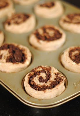 Whole Wheat Chocolate Swirl Buns