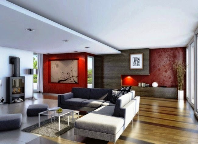 Wall painting accent ideas for Living room accent wall ideas