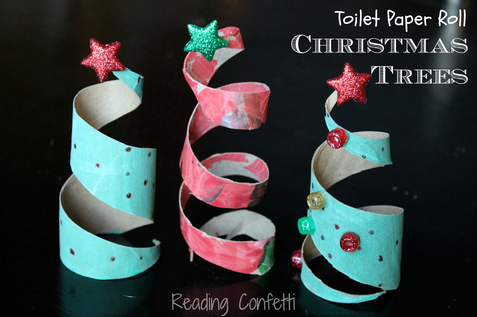 Toilet Paper Roll Christmas Trees ~ Reading Confetti ~ 043503_Christmas Decoration Ideas Using Toilet Paper Rolls