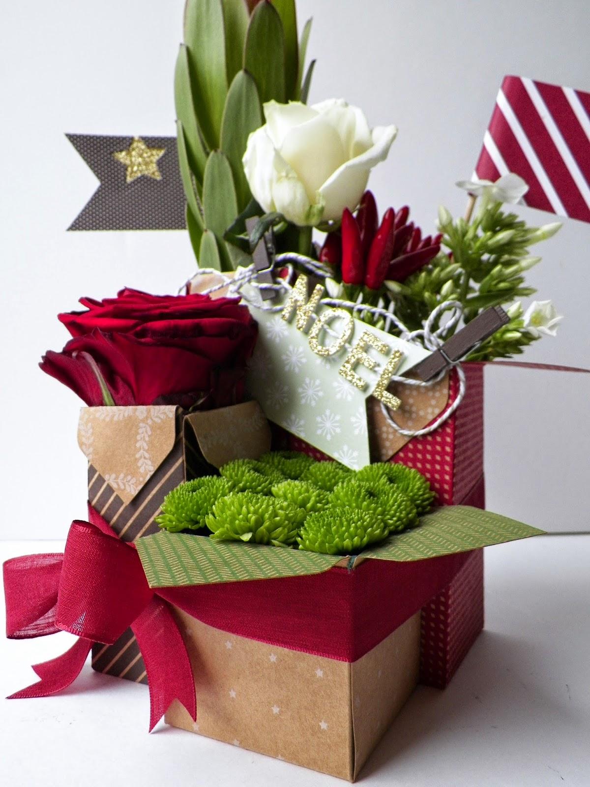 Stamp 2 linotte insta 39 boite composition florale for Bouquet de fleurs dans une boite