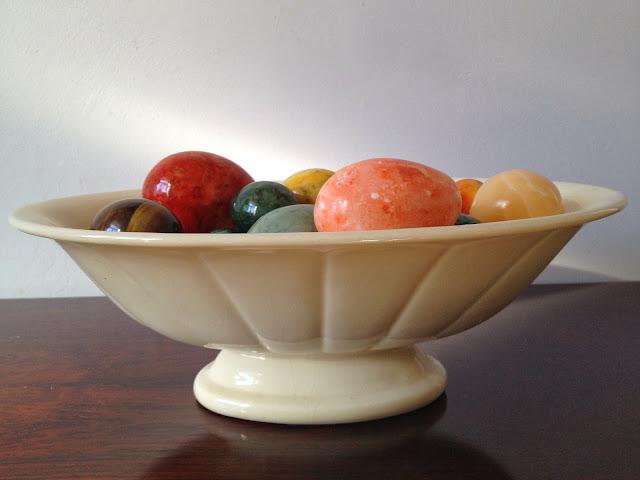 taça, cerâmica, vintage, ovos, mármore