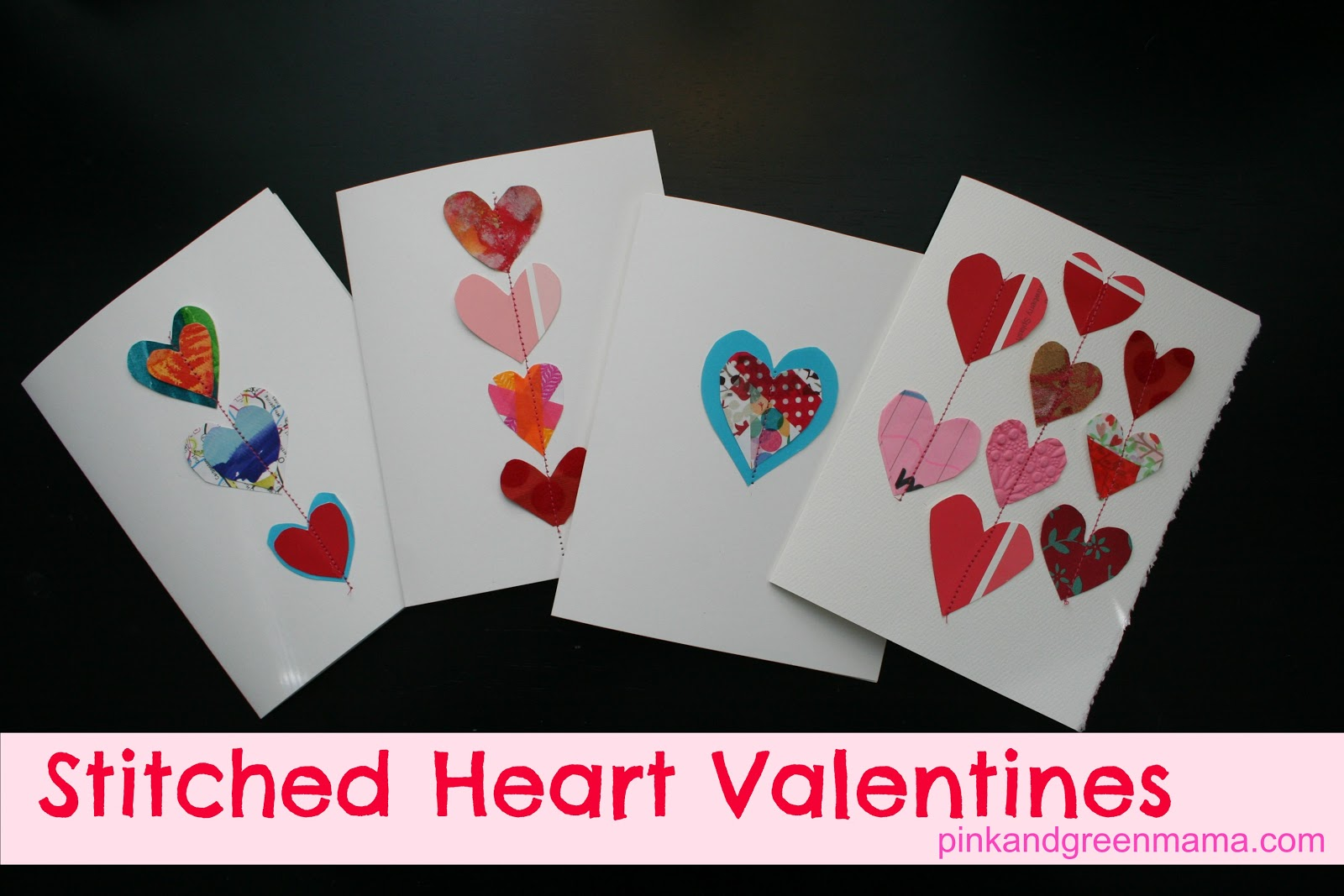 Pink and Green Mama: * This Year's Stitched Heart ...