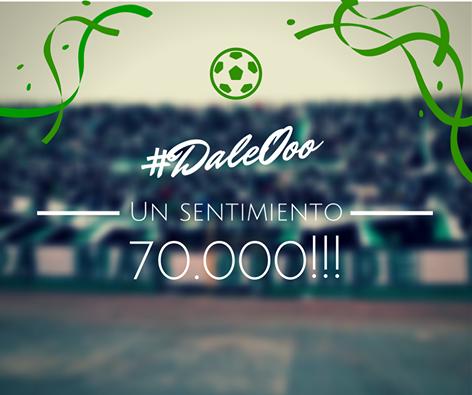 Oriente Petrlero - 70.000 seguidores - DaleOoo.com web del Club Oriente Petrolero
