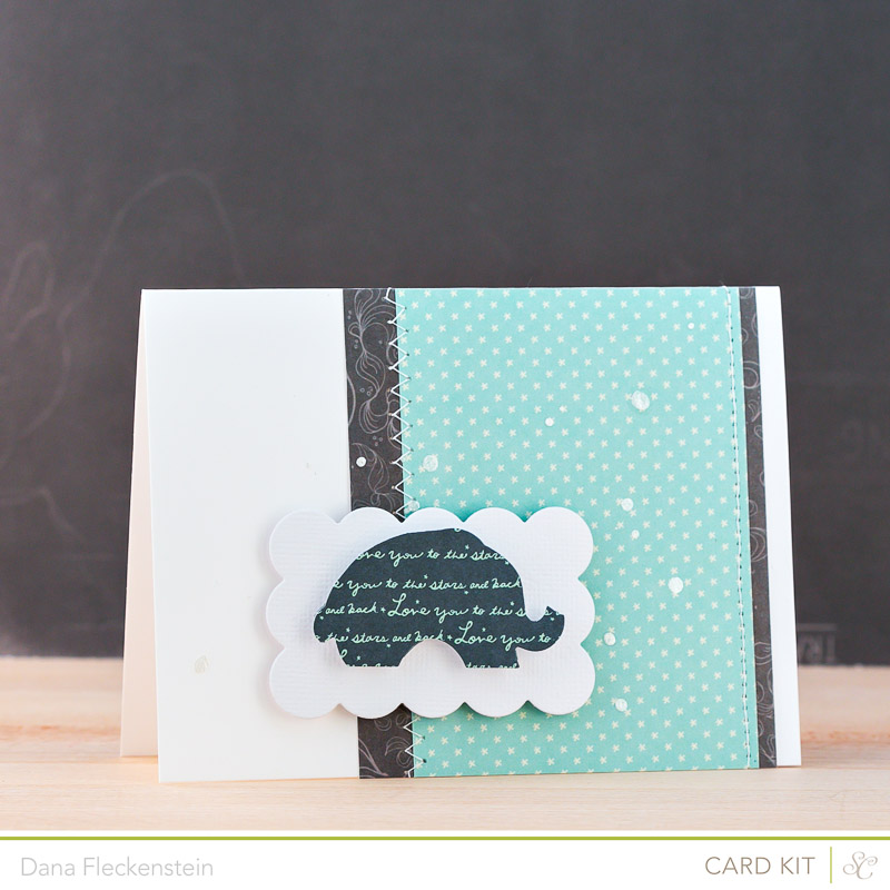Handmade Baby Boy Card by @pixnglue using Studio Calico Planetarium Kit