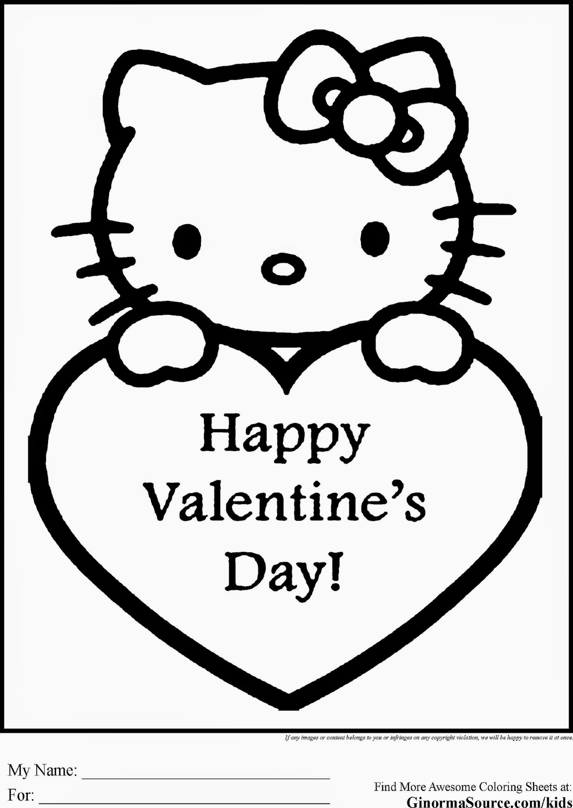 hello kitty valentines day coloring pages color pages best
