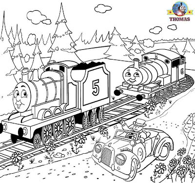 Percy drawing and coloring pages for kids that are printable pictures of Thomas the train clip art