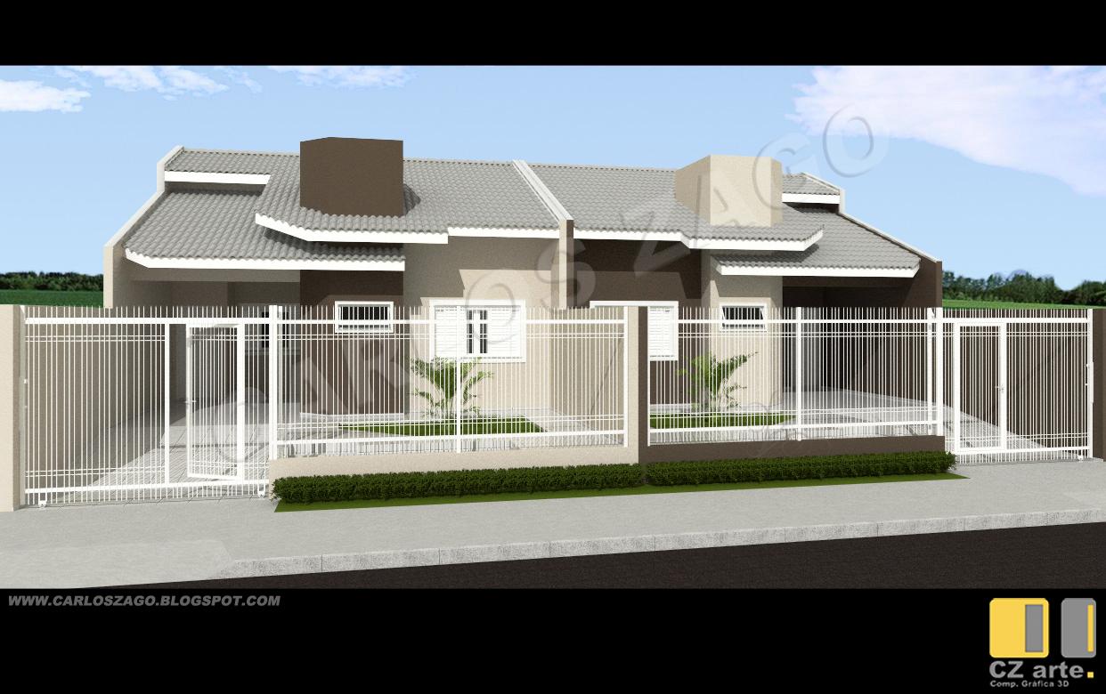 Carlos zago projeto 01 casas geminadas para loteamento for Casa moderna 7x20