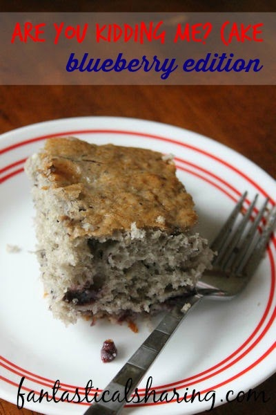 Are You Kidding Me? Cake: Blueberry Edition | Three ingredients and you get this incredible fluffy delicious cake #dessert