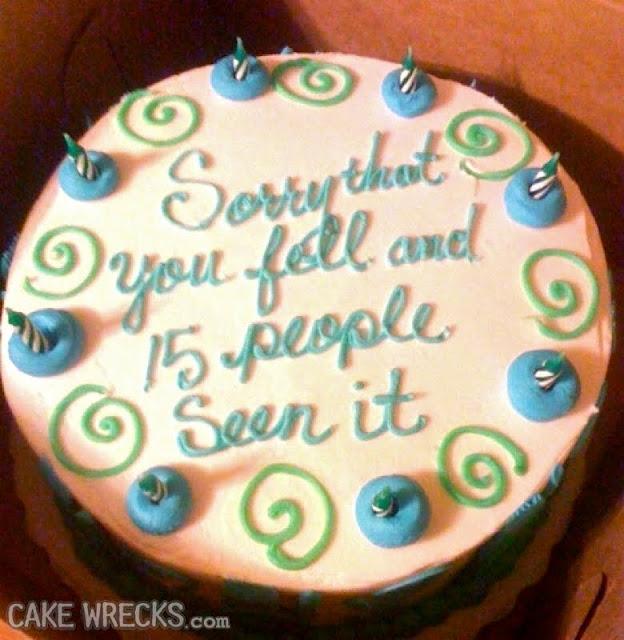Fotos de tortas con mensajes desastrosos y graciosos