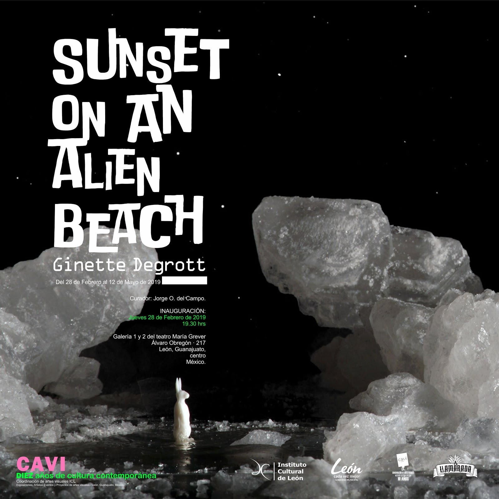 Sunset on an alien beach.