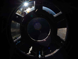 SUNRISE IN SPACE STATION CUPOLA