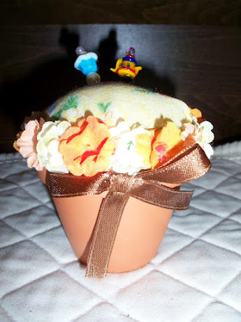 Flower Pot Pin Cushion