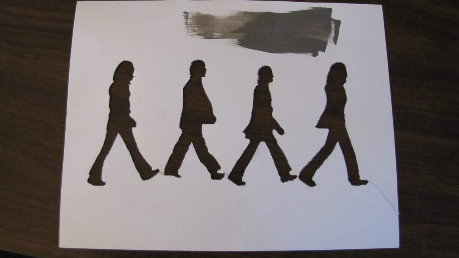 Beatles Abbey Road Stencil