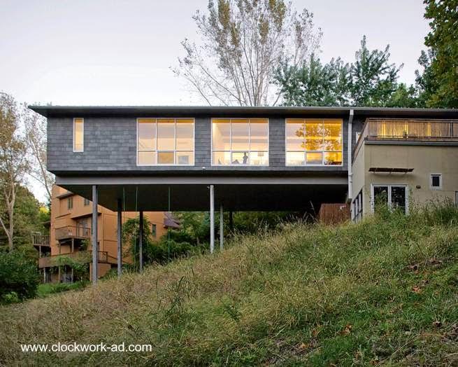 Casa volada en Kansas City, Missouri, Estados Unidos