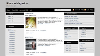 Ikhsan Magazine Blogger Template