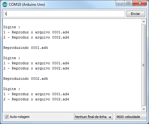 WTV020-SD Serial Monitor