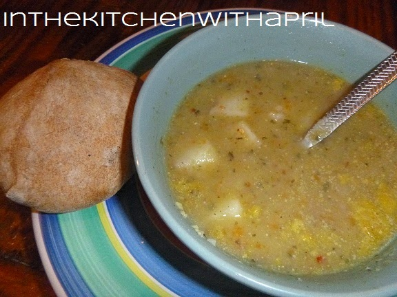 In the Kitchen With April: Spicy Split Pea and Potato Soup