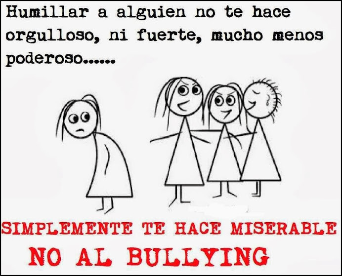 DESDE LA VIDRIERA: NO AL BULLYING