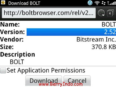 Bolt Browser untuk BlackBerry