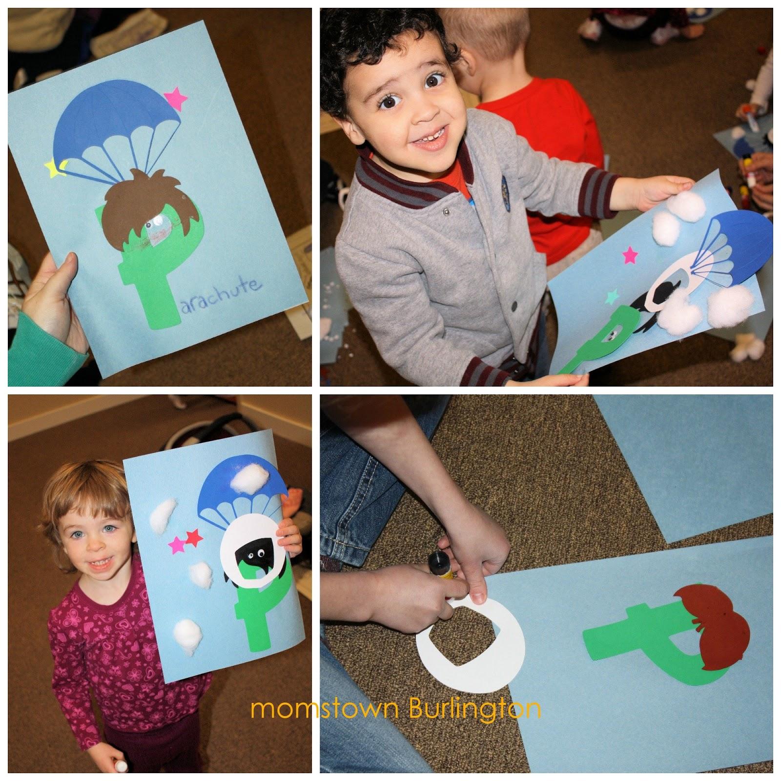 letter p preschool craft momstown burlington alphabet play
