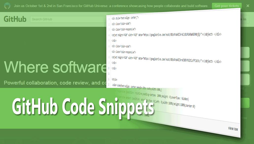 Cara Mudah Menyimpan GitHub Code Snippets Di Postingan Blog