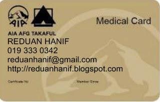 Medikal Kad Terbaik di Malaysia dengan cashless dan unlimited sepanjang hayat.