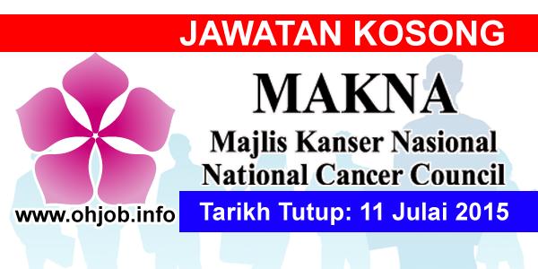Jawatan Kerja Kosong Majlis Kanser Nasional (MAKNA) logo www.ohjob.info julai 2015