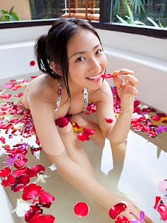 Saaya Irie Japanese girl in bathroom 9