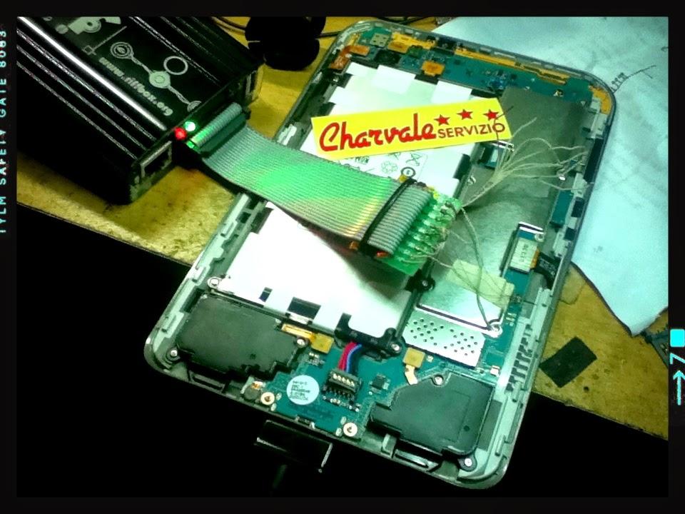 Log Service Charvale Servizio, Samsung Galaxy TAB 2 GT P3100 Hardbrick ...