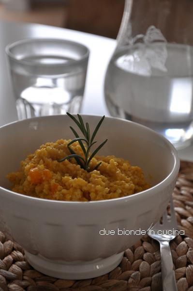 Due bionde in cucina miglio con zucca al rosmarino for Cucina di esposizione svendite