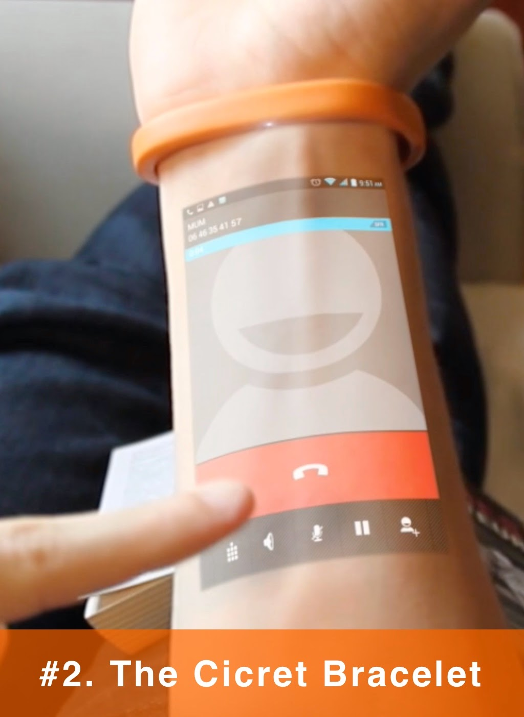 The Cicret Bracelet: It's like a tablet...but on your skin