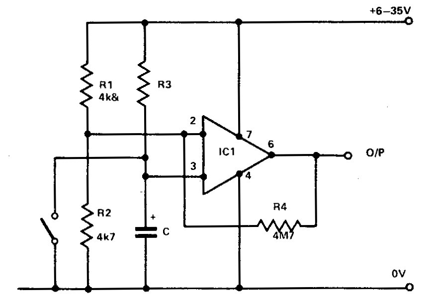 build a 741 timer circuit diagram