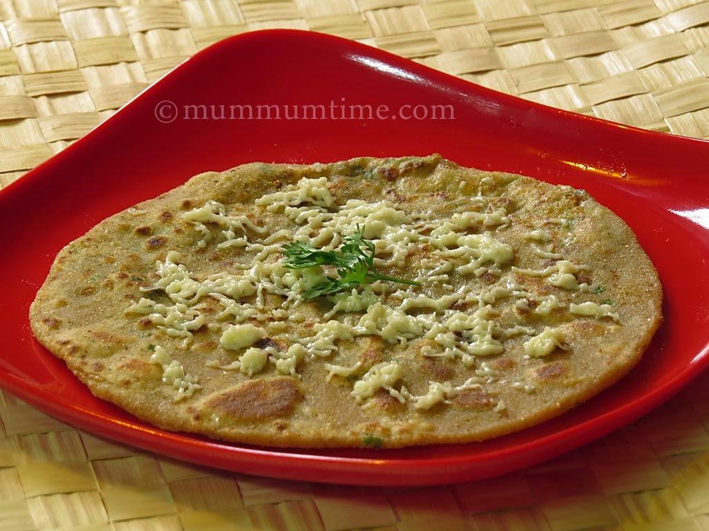 Coriander Cheese Paratha