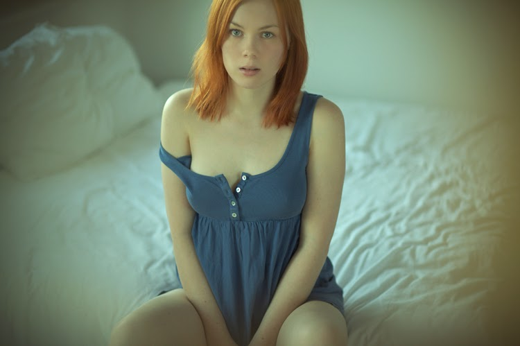 Beautiful redhead green eyes emo sucking 4