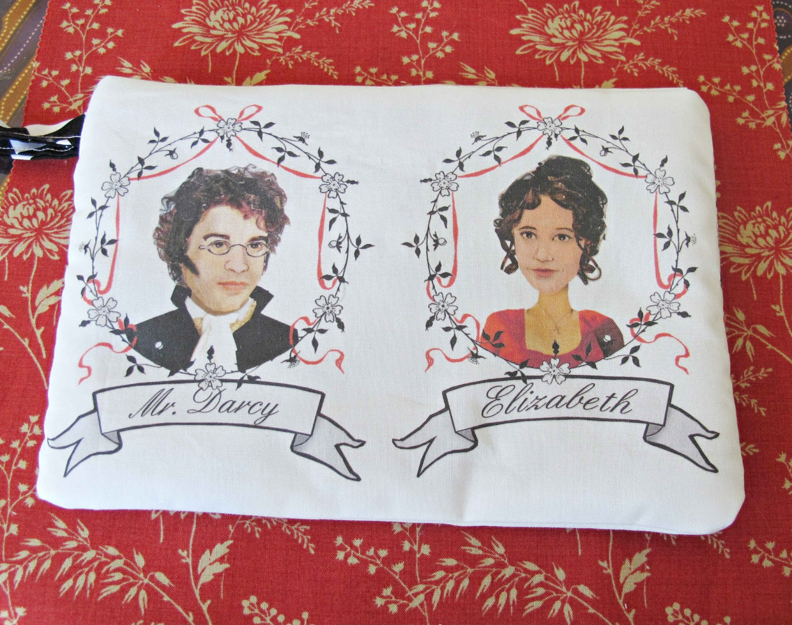 image mr darcy wristlet purse pride and prejudice elizabeth bennet jane austen spoonflower fabric