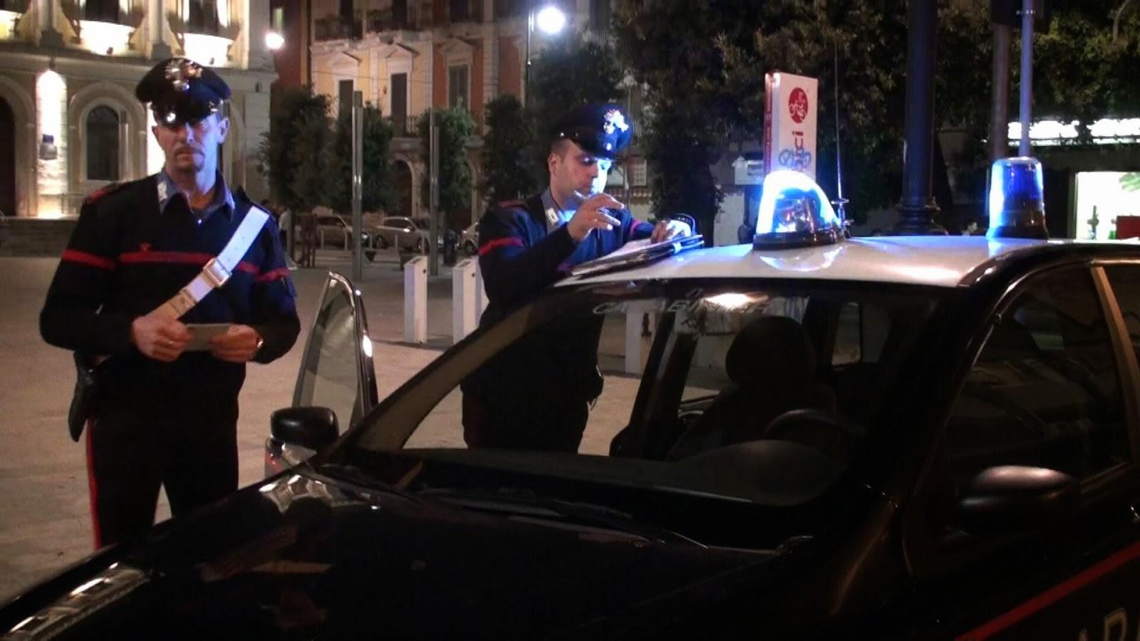 Bari al setaggio dai Carabinieri