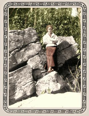 Bonnie on rocks