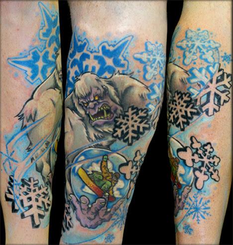 Abominable snowman tattoo