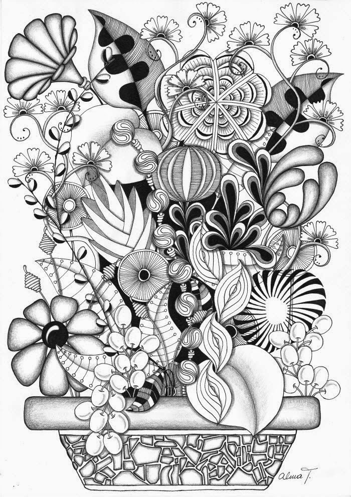 Floral Zentangle Photos Bilder Land