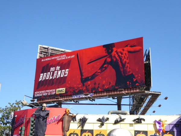 Into the Badlands series launch billboard