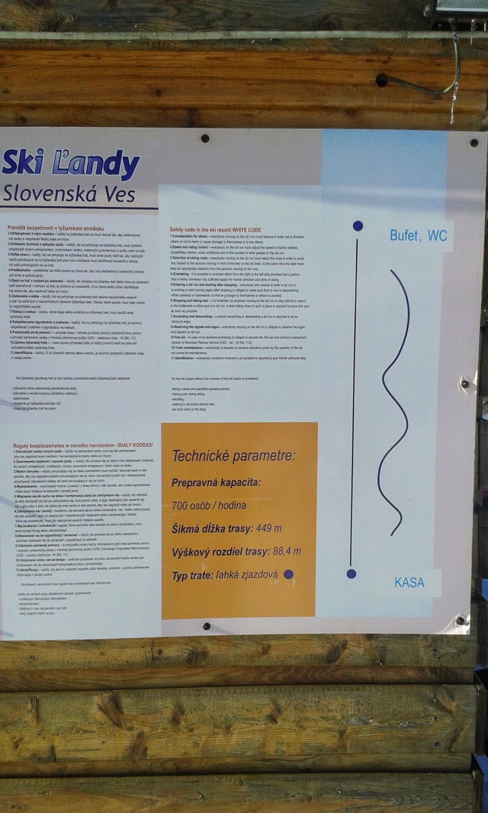 wyciąg i trasa narciarska SKI Slovenská Ves