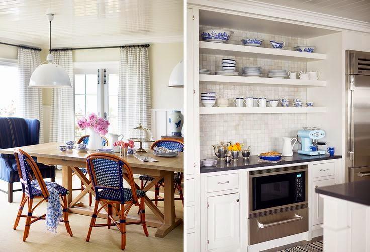 Hogares frescos dise o de interiores en azul y blanco - Lo ultimo en diseno de interiores ...