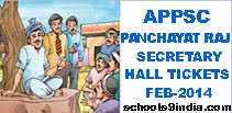 AP Panchayat Raj Secretary Exam Hall Ticket 2014, APPSC Panchayat Raj Secretary February 2014 Hall Ticket at apspsc.gov.in