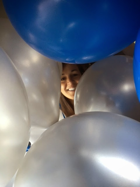 Jessica in the balloons
